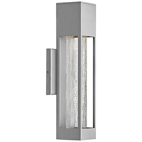 "Hinkley Vapor 14"" High Titanium Outdoor Wall Light"