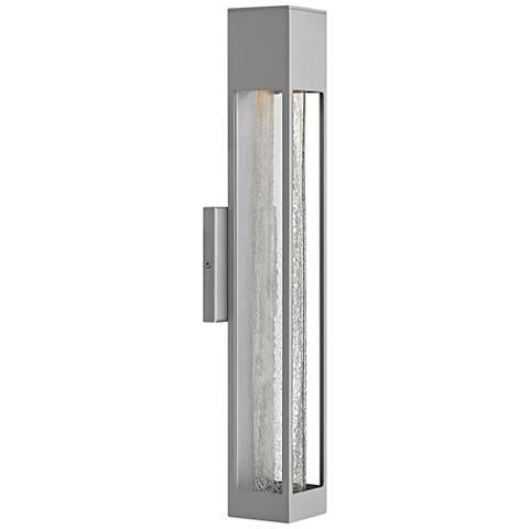 "Hinkley Vapor 21"" High Titanium Outdoor Wall Light"