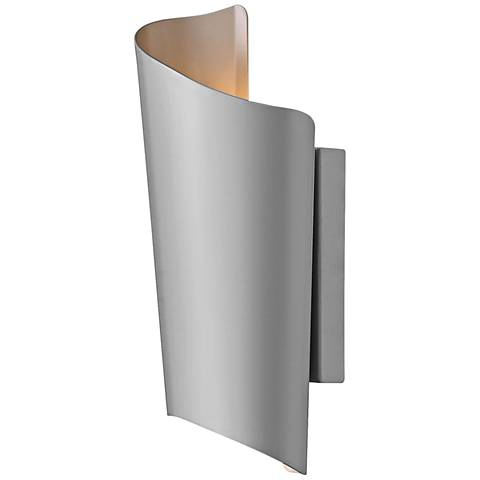 "Hinkley Surf 15"" High Titanium LED Outdoor Wall Light"