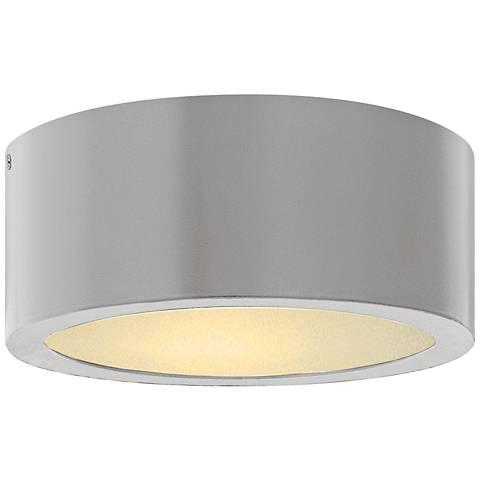 "Hinkley Luna 8"" Wide Titanium LED Outdoor Ceiling Light"