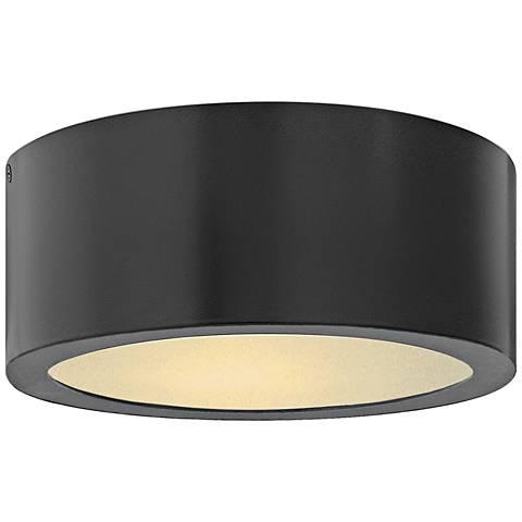 """Hinkley Luna 8"""" Wide Satin Black LED Outdoor Ceiling Light"""