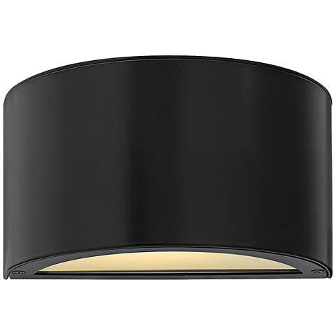 "Hinkley Luna 5"" High Satin Black 2-LED Outdoor Wall Light"