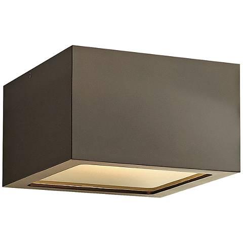 "Hinkley Kube 6"" Wide Bronze LED Outdoor Ceiling Light"