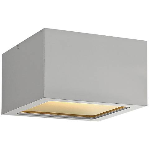 "Hinkley Kube 6"" Wide Titanium LED Outdoor Ceiling Light"