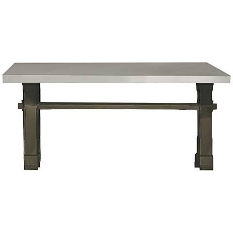 Flatiron Studio Wood Trestle Rectangular Dining Table
