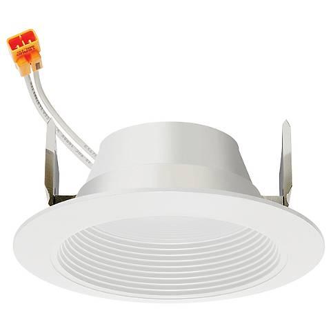 "4"" Juno 10 Watt 2700K Baffle LED Retrofit Trim in White"