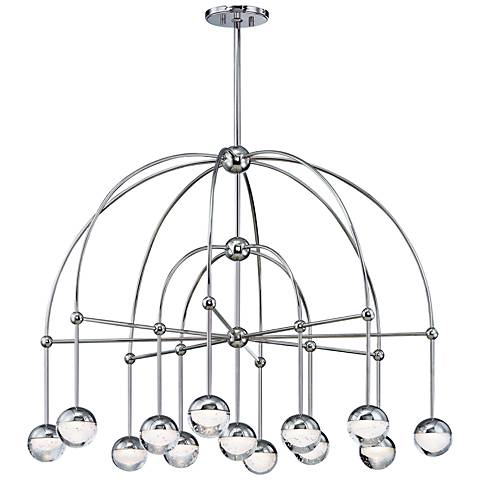 "Hudson Valley Boca 39""W Polished Nickel 13-LED Chandelier"