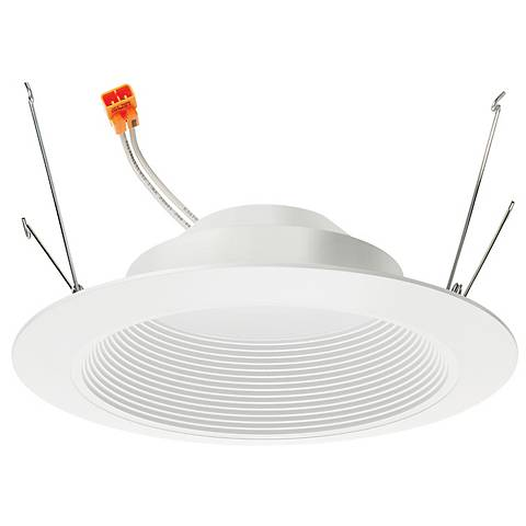"6"" Juno 13.5 Watt 2700K LED Baffle Retrofit Trim in White"