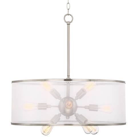"Possini Euro Taur 26""W Brushed Nickel 12-LED Pendant Light"