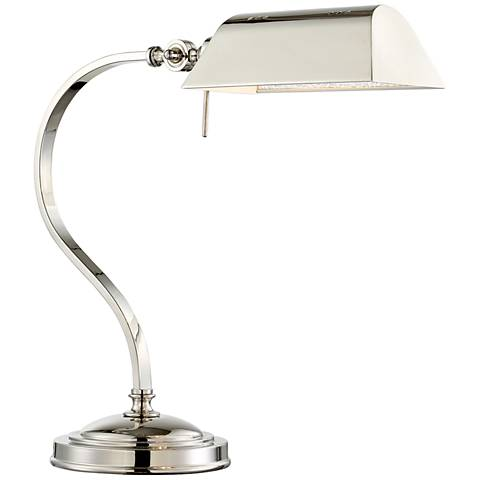 Lite Source Georgino Brushed Nickel Adjustable Banker Desk Lamp
