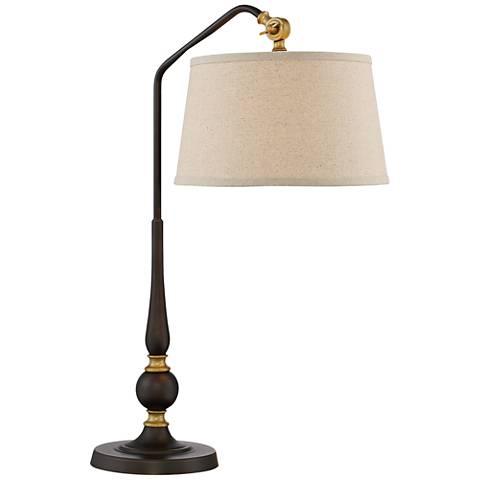 Lite Source Heinz Burnished Bronze Adjustable Desk Lamp