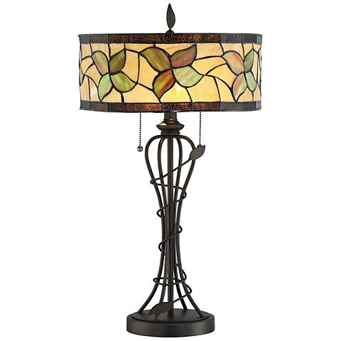 Lite Source Olivia Dark Bronze Tiffany Style Table Lamp