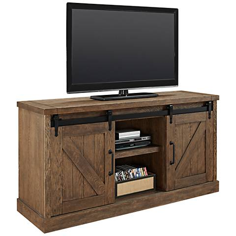 Avondale Brushed Weathered Oak 2-Door Credenza or Console