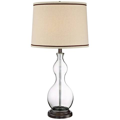 Lite Source Caroline Clear Glass Gourd Table Lamp