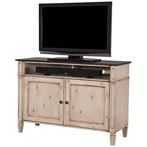 Baldwin Antique Powder White 2-Door Wood TV Stand