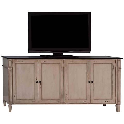 Baldwin Antique Powder White 4-Door Wood TV Stand