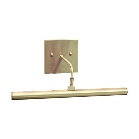 """Slim-Line 14"""" Wide Satin Brass Direct Wire LED Picture Light"""