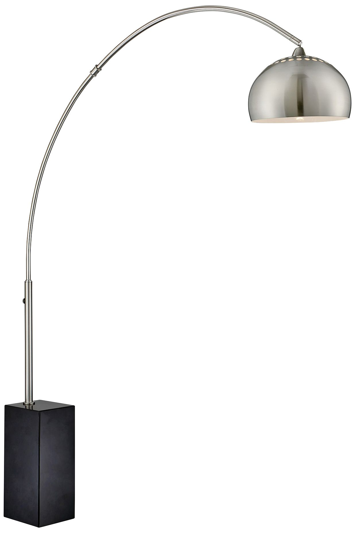 lite source triton brushed nickel 1light arc floor