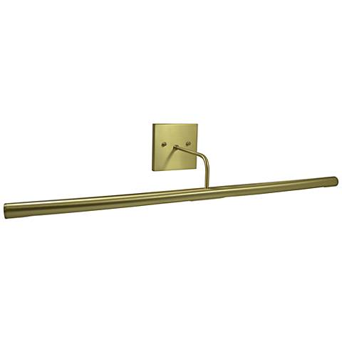 "Slim-Line 28"" Wide Satin Brass Direct Wire LED Picture Light"