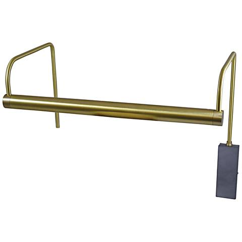 """House of Troy Slim-Line 15""""W Satin Brass LED Picture Light"""