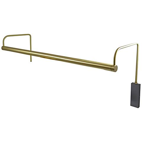 "House of Troy Slim-Line 29""W Satin Brass LED Picture Light"