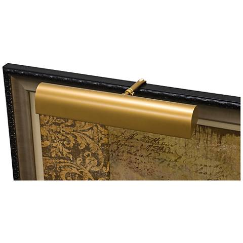 """House of Troy Traditional 14"""" Wide Gold Picture Light"""