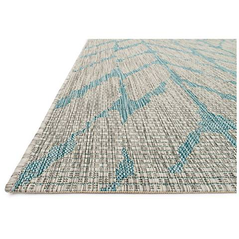 Isle IE-02 Mist and Aqua Outdoor Area Rug