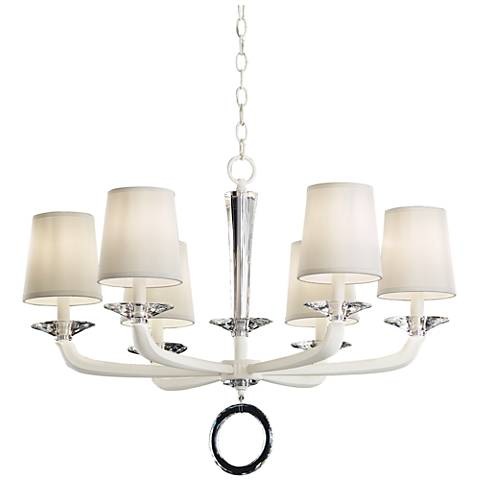 "Schonbek Emilea 30 1/2"" Wide White 6-Light Chandelier"