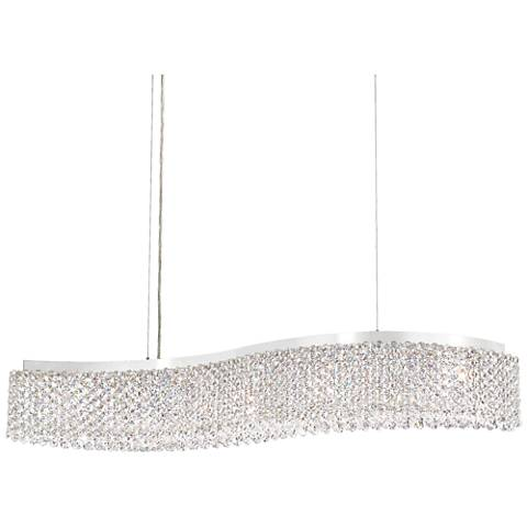 "Schonbek Refrax 33"" Wide Spectra Crystal LED Linear Pendant"
