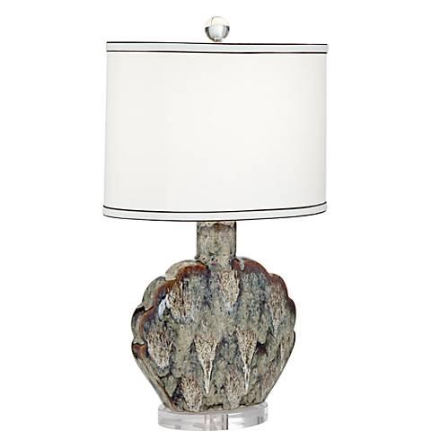 Possini Euro Ryan Seashell Ceramic Table Lamp