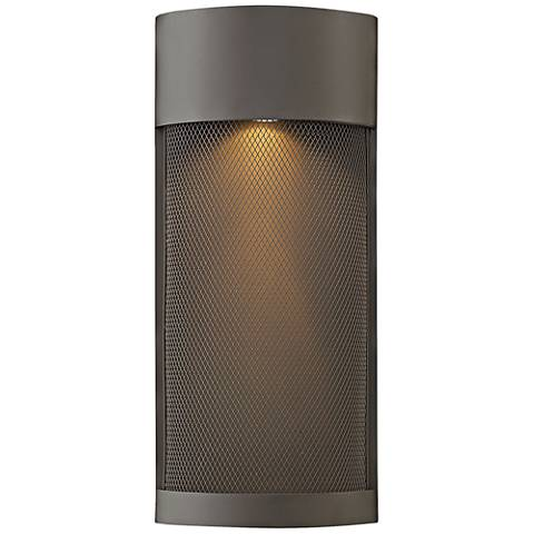 "Aria 18""H Buckeye Bronze and Steel Mesh Outdoor Wall Light"