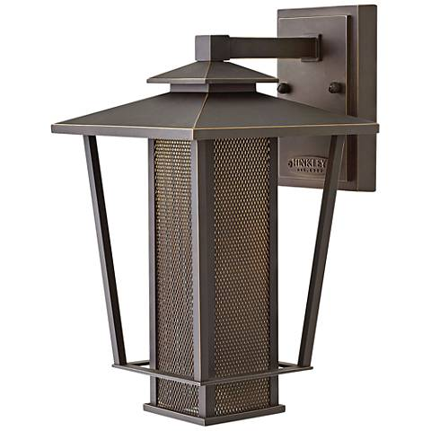 "Hinkley Theo 14""H Oil Rubbed Bronze LED Outdoor Wall Light"