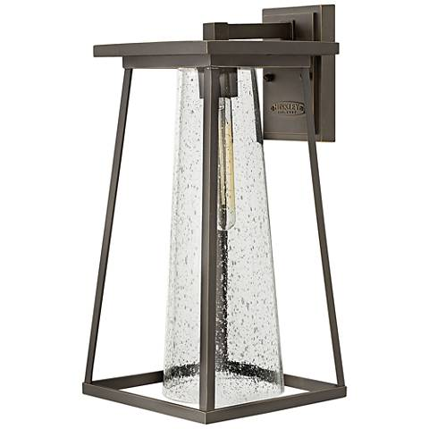 "Burke 16 3/4"" High Bronze and Clear Glass Outdoor Wall Light"