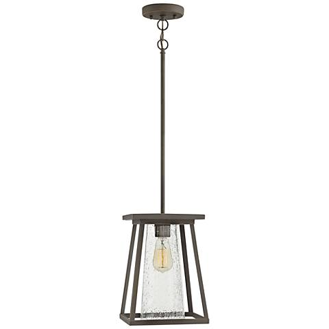 """Burke 13"""" High Bronze and Clear Glass Outdoor Hanging Light"""
