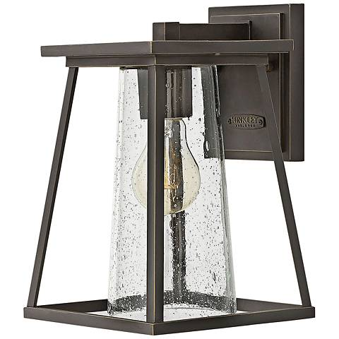 """Burke 10 3/4"""" High Bronze and Clear Glass Outdoor Wall Light"""