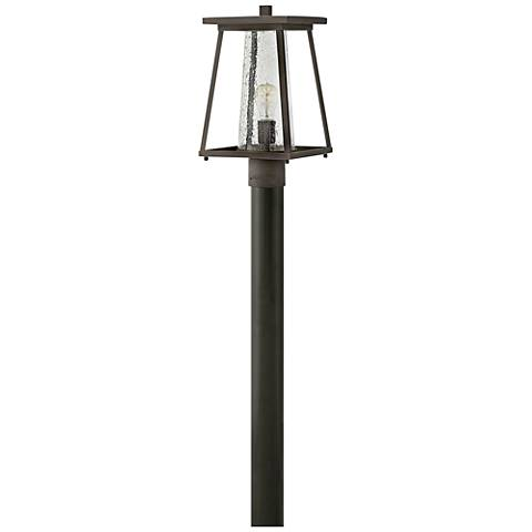 """Burke 16""""H Rubbed Bronze and Clear Glass Outdoor Post Light"""