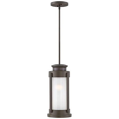 "Hinkley Briggs 17 3/4""H Buckeye Bronze Outdoor Hanging Light"