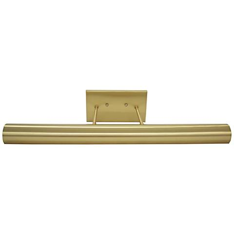"Classic Contemporary 24"" Wide Satin Brass LED Picture Light"