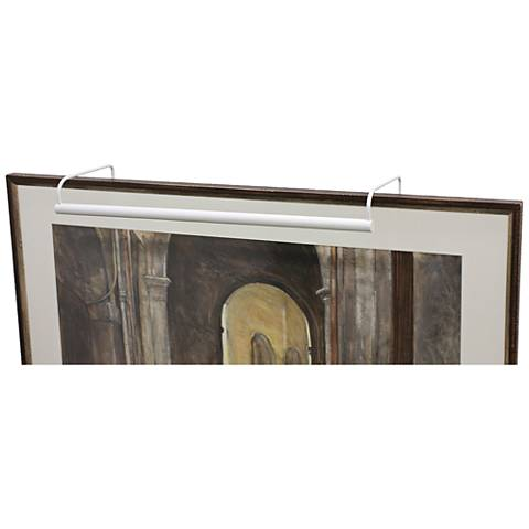 """House of Troy Slim-Line 21"""" Wide White Picture Light"""