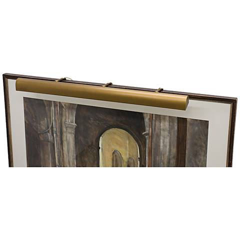 """House of Troy Traditional 42""""W Weathered Brass Picture Light"""