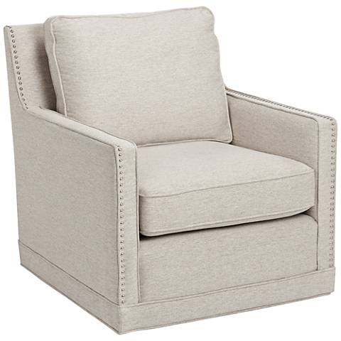 Clinton Linen Fabric Swivel Chair