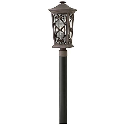 "Hinkley Enzo 21"" High Oil Rubbed Bronze Outdoor Post Light"