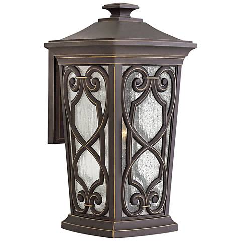 """Enzo 18 3/4"""" High Oil Rubbed Bronze LED Outdoor Wall Light"""