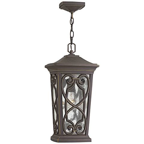 """Enzo 19"""" High Oil Rubbed Bronze LED Outdoor Hanging Light"""