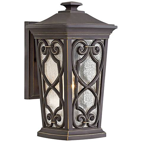 "Enzo 15 1/4"" High Oil Rubbed Bronze LED Outdoor Wall Light"