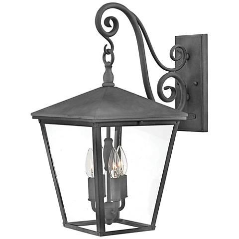 """Trellis 22 1/4"""" High Aged Zinc 4-Light Outdoor Wall Light"""