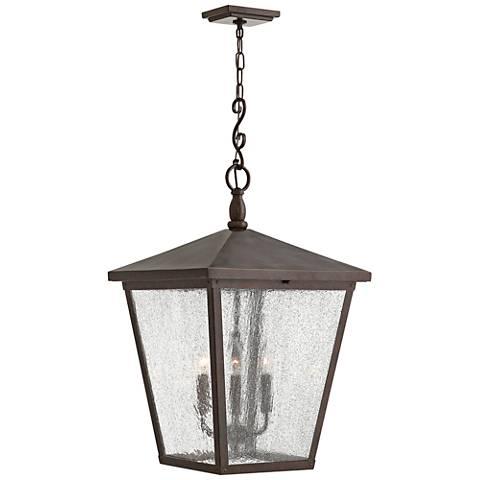 """Trellis 31 1/4"""" High Regency Bronze Outdoor Hanging Light"""