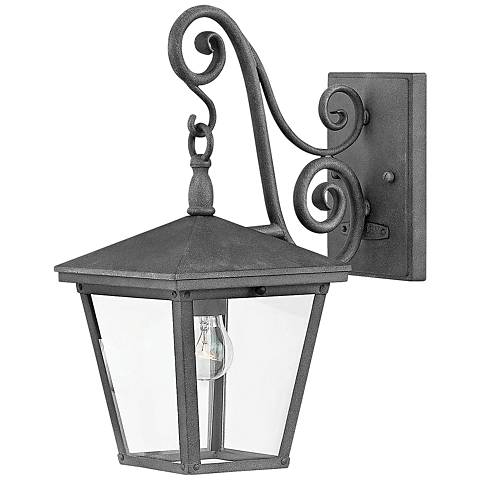 "Hinkley Trellis 15 1/4"" High Aged Zinc Outdoor Wall Light"