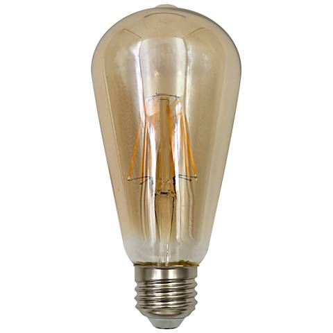 60W Equivalent Amber 7W LED Dimmable Standard Edison Bulb
