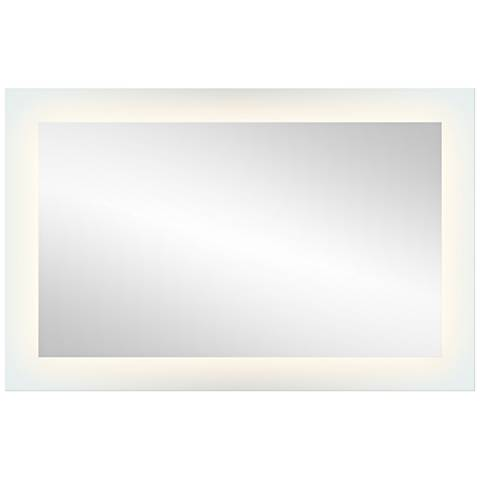 "Elan Edge-Lit Etched Glass 27"" x 42"" LED Wall Mirror"